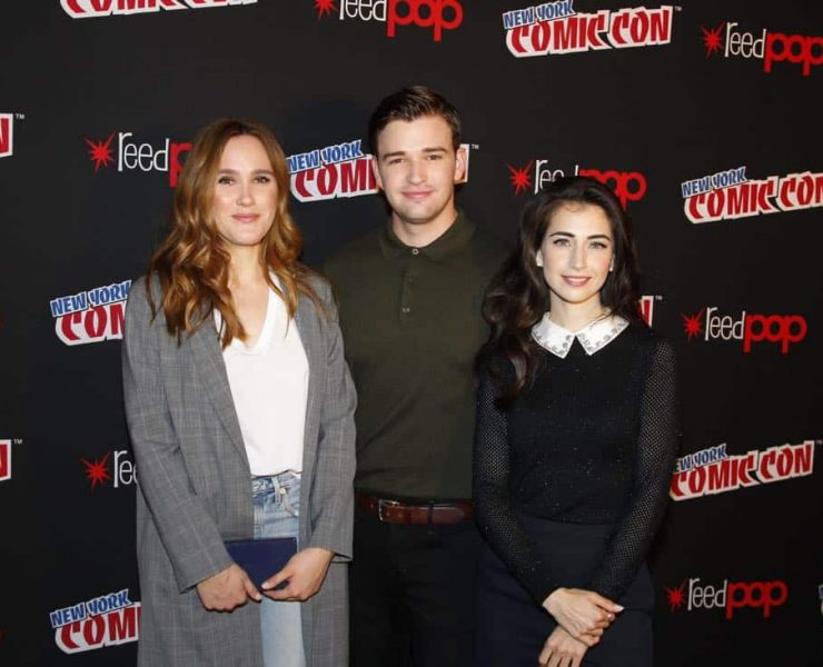 """NY COMIC-CON 2017 - Freeform's genre programming was out in full force at this year's New York Comic Con on Saturday, October 7th with executive producers and cast from the hit series """"Shadowhunters,"""" """"Beyond,"""" and new original series """"Siren."""" (ABC/Lou Rocco) EDEN BROLIN, BURKELY DUFFIELD, DILAN GWYN"""
