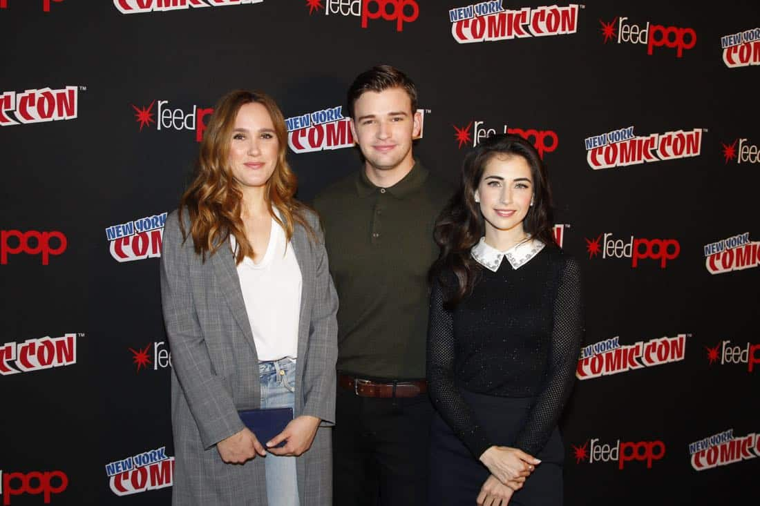 "NY COMIC-CON 2017 - Freeform's genre programming was out in full force at this year's New York Comic Con on Saturday, October 7th with executive producers and cast from the hit series ""Shadowhunters,"" ""Beyond,"" and new original series ""Siren."" (ABC/Lou Rocco) EDEN BROLIN, BURKELY DUFFIELD, DILAN GWYN"