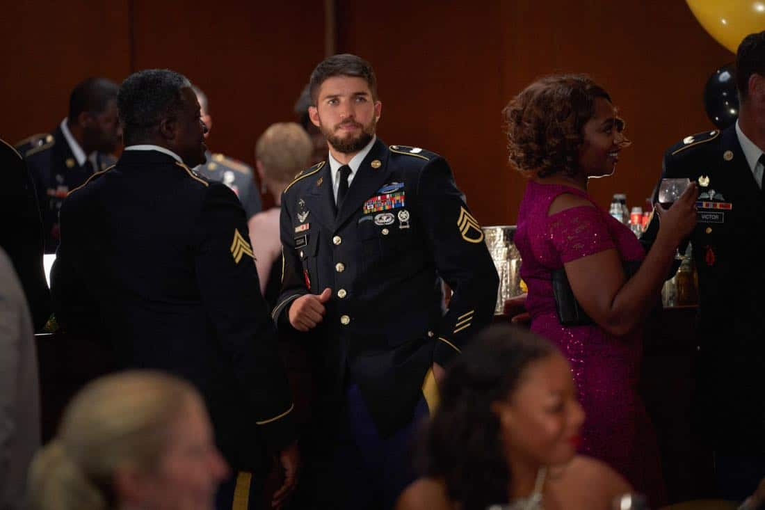 "Valor -- ""Esprit de Corps"" -- Image Number: VAL102b_0105.jpg -- Pictured: Bryan Craig as Adam Coogan -- Photo: Bob MahoneyThe CW -- © 2017 The CW Network, LLC. All Rights Reserved."