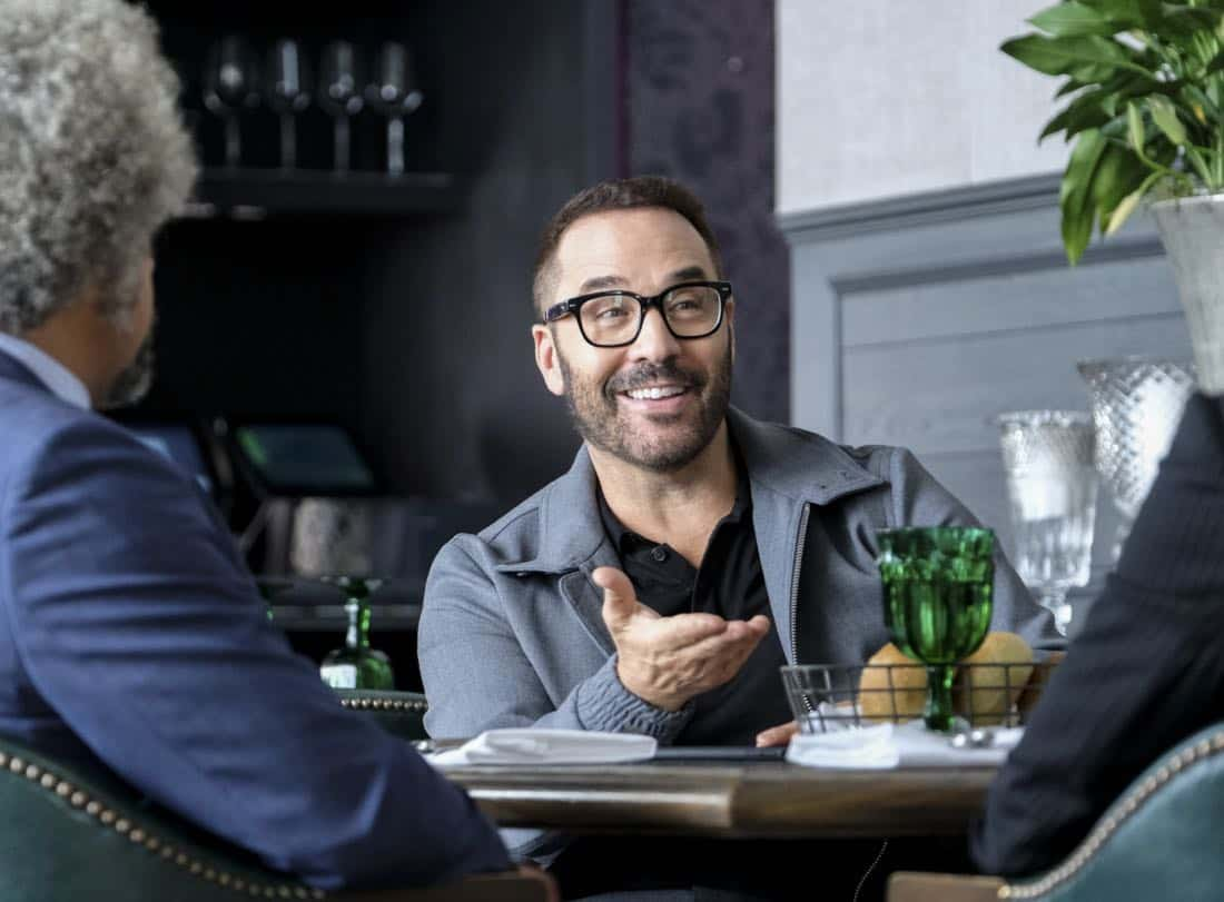 """""""Machine Learning"""" -- Pictured: Jeremy Piven as Jeffrey Tanner. After the team puts publicly available crime data into Sophe, the platform exposes a serial killer plaguing Silicon Valley and the Bay Area by connecting previously unrelated murders, on WISDOM OF THE CROWD, Sunday, Oct. 15 (8:30-9:30 PM, ET/PT) on the CBS Television Network.Photo: Patrick Wymore/CBS ©2017 CBS Broadcasting, Inc. All Rights Reserved"""