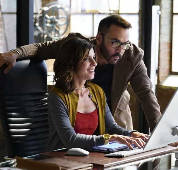 """Machine Learning"" -- Pictured: Natalia Tena as Sara Morton and Jeremy Piven as Jeffrey Tanner. After the team puts publicly available crime data into Sophe, the platform exposes a serial killer plaguing Silicon Valley and the Bay Area by connecting previously unrelated murders, on WISDOM OF THE CROWD, Sunday, Oct. 15 (8:30-9:30 PM, ET/PT) on the CBS Television Network.Photo: Sonja Flemming/CBS ©2017 CBS Broadcasting, Inc. All Rights Reserved"
