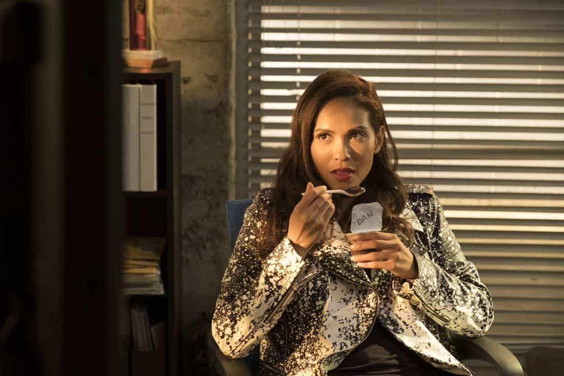 "LUCIFER: Lesley-Ann Brandt in the ""Mr. and Mrs. Mazikeen Smith"" episode of LUCIFER airing Monday, Oct. 16 (8:00-9:00 PM ET/PT) on FOX.  CR:  MICHAEL COURTNEY/FOX"