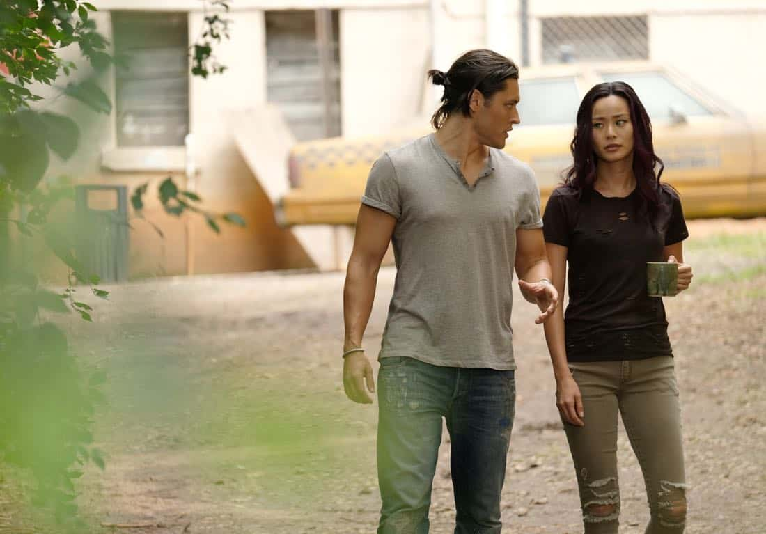 "THE GIFTED: L-R: Blair Redford and Jamie Chung in the ""eXodus"" episode of THE GIFTED airing Monday, Oct. 16 (9:00-10:00 PM ET/PT) on FOX. ©2017 Fox Broadcasting Co. Cr: Eliza Morse/FOX"
