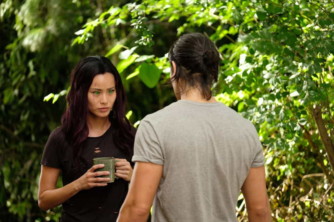 "THE GIFTED: L-R: Jamie Chung and Blair Redford in the ""eXodus"" episode of THE GIFTED airing Monday, Oct. 16 (9:00-10:00 PM ET/PT) on FOX. ©2017 Fox Broadcasting Co. Cr: Eliza Morse/FOX"