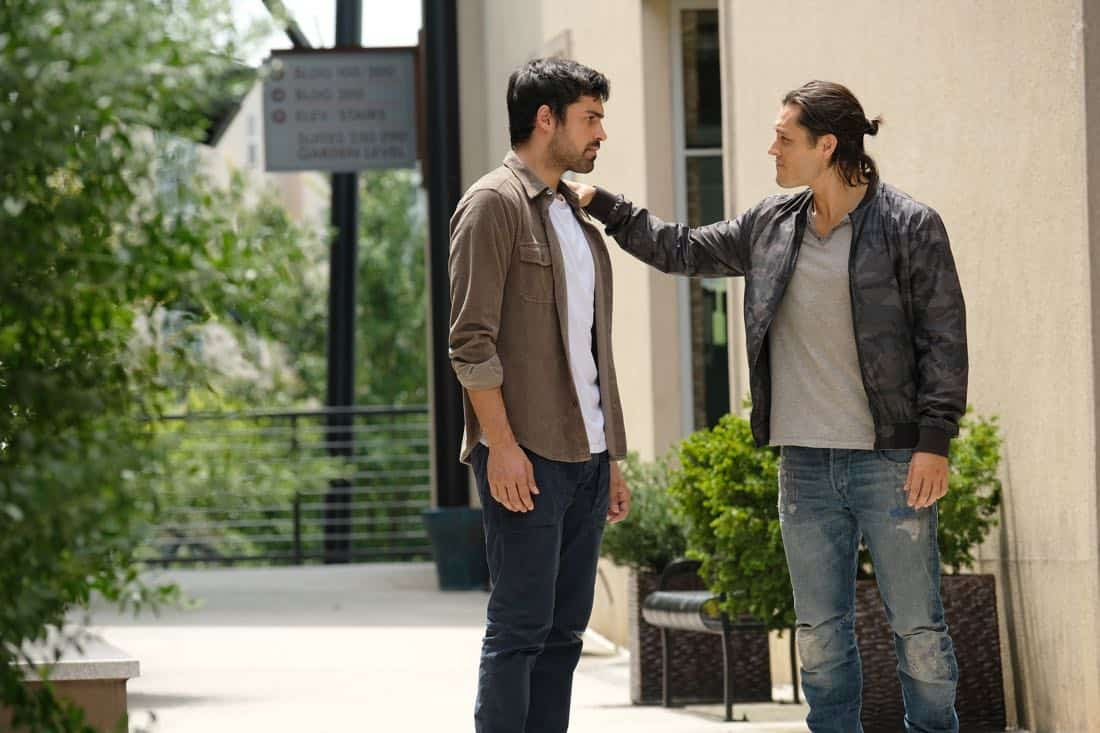 "THE GIFTED: L-R: Sean Teale and Blair Redford in the ""eXodus"" episode of THE GIFTED airing Monday, Oct. 16 (9:00-10:00 PM ET/PT) on FOX. ©2017 Fox Broadcasting Co. Cr: Eliza Morse/FOX"