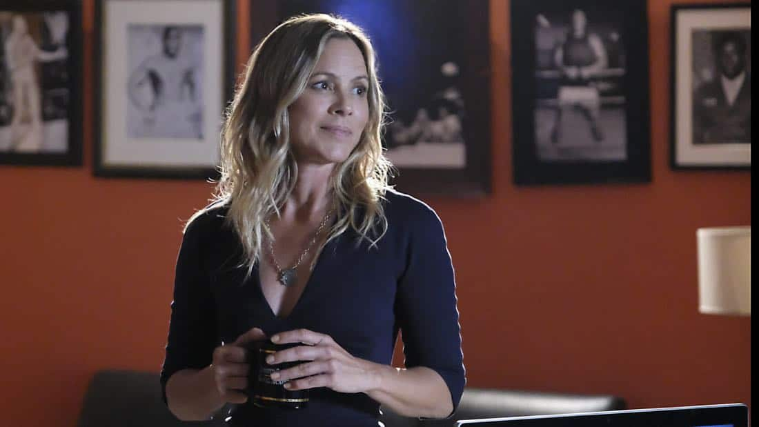 """Skeleton Crew"" -- Director Vance welcomes NCIS Special Agent Jacqueline ""Jack"" Sloane (Maria Bello), a forensic psychologist he lobbied to transfer from California, to headquarters. Also, in the midst of a storm that has shut down Washington, D.C. and knocked out power, the NCIS team investigates the kidnapping of a sailor, which sends Torres and Bishop out to sea to track evidence, on NCIS, Tuesday, Oct. 17 (8:00-9:00 PM, ET/PT) on the CBS Television Network. Pictured: Maria Bello Photo: Patrick Wymore/CBS ©2017 CBS Broadcasting, Inc. All Rights Reserved"