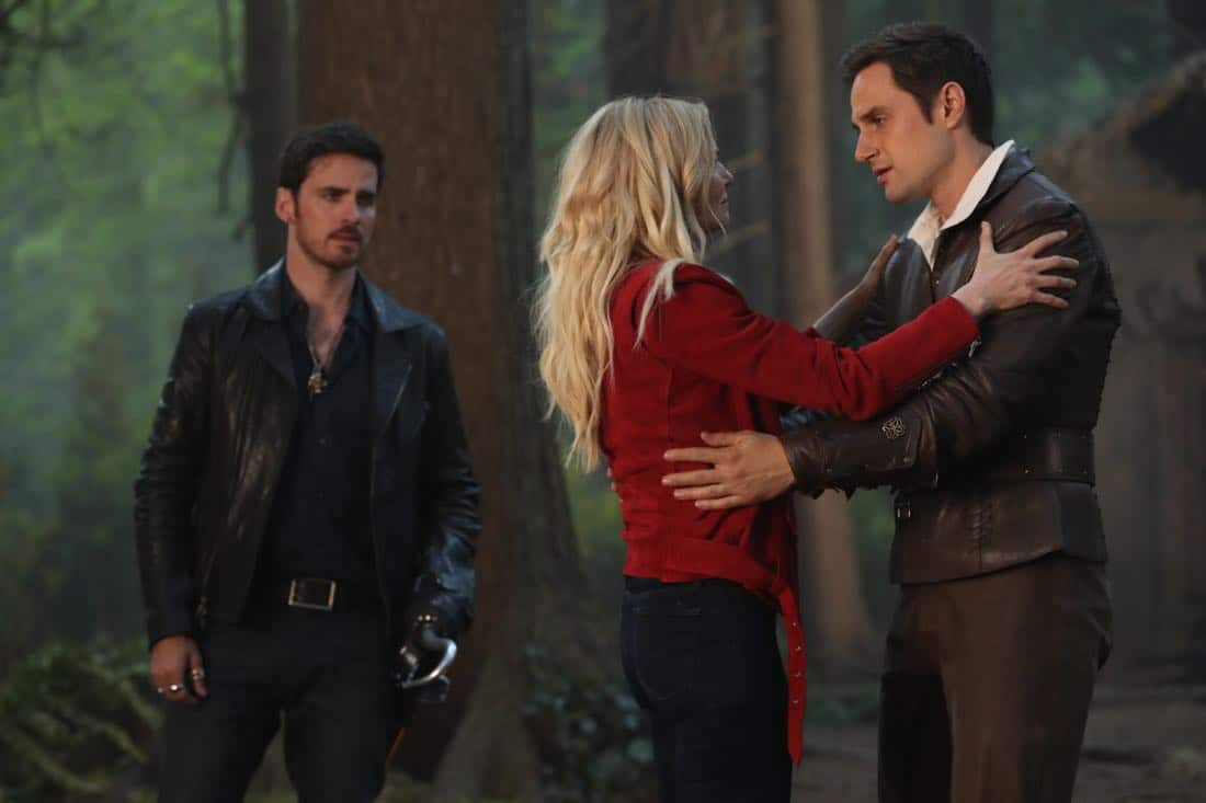 "ONCE UPON A TIME - ""A Pirate's Life"" - When Henry finds himself in trouble, he calls upon his Storybrooke family for help, and together they set off on a mission to find Cinderella. Along the way, Hook is confronted by an unexpected foe who threatens the group's success. In Hyperion Heights, Jacinda searches for a way to see Lucy with some unwelcome assistance from Henry, while Victoria Belfrey enlists the help of Gold and Weaver to push Henry out of the neighborhood, on ""Once Upon a Time,"" FRIDAY, OCTOBER 13 (8:00-9:01 p.m. EDT), on The ABC Television Network. (ABC/Jack Rowand) COLIN O'DONOGHUE, JENNIFER MORRISON, ANDREW J. WEST"