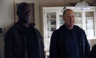 "THE BLACKLIST -- ""The Endling"" Episode 504 -- Pictured: (l-r) Hisham Tawfiq as Dembe Zuma, James Spader as Raymond ""Red"" Reddington -- (Photo by: Will Hart/NBC)"