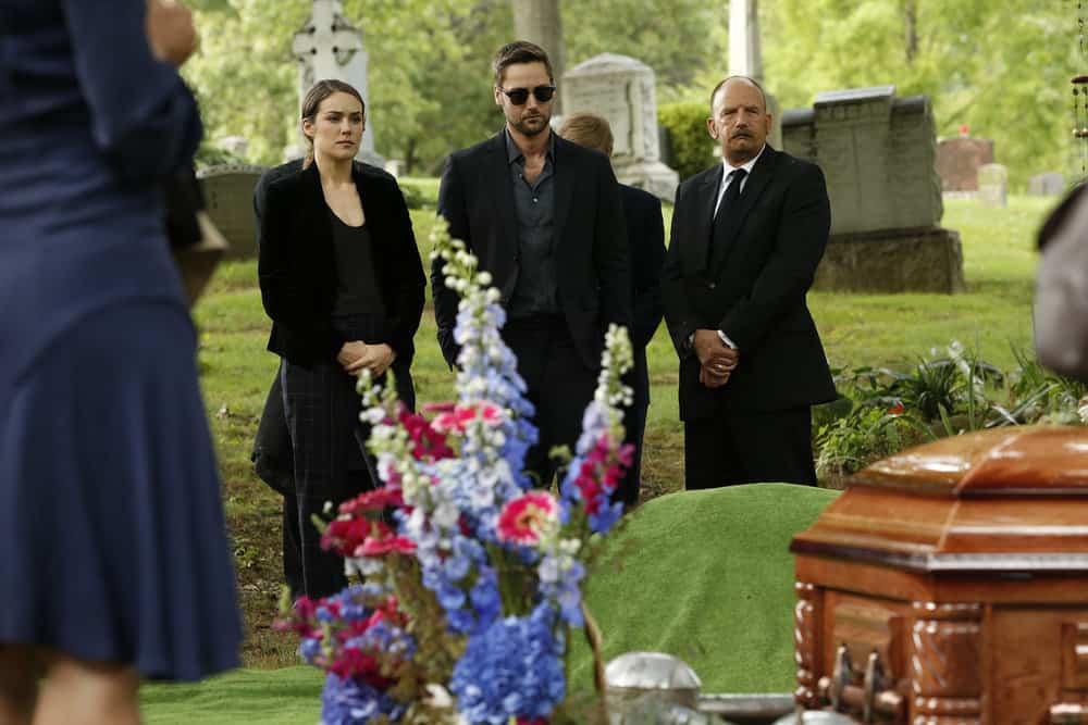 "THE BLACKLIST -- ""Ilyas Surkov (#54)"" Episode 505 -- Pictured: (l-r) Megan Boone as Elizabeth Keen, Ryan Eggold as Tom Keen -- (Photo by: Will Hart/NBC)"