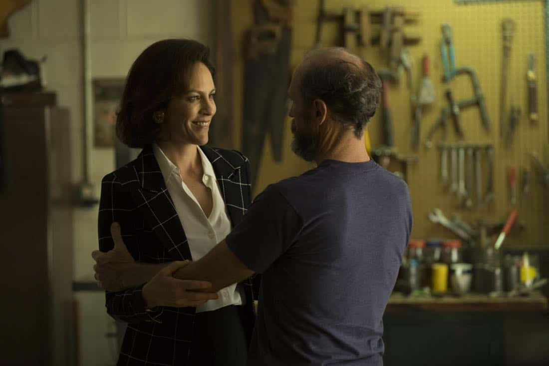 Annabeth Gish as Diane Gould, Toby Huss as John Bosworth - Halt and Catch Fire _ Season 4, Episode 9 - Photo Credit: Bob Mahoney/AMC