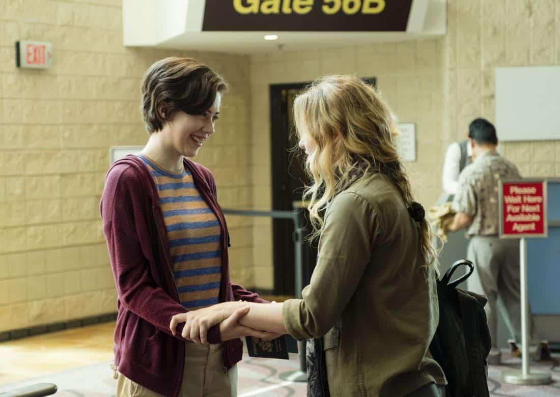 Kathryn Newton as Joanie Clark, Susanna Skaggs as Haley Clark - Halt and Catch Fire _ Season 4, Episode 9 - Photo Credit: Bob Mahoney/AMC