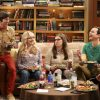 """The Collaboration Contamination"" -- Pictured: Howard Wolowitz (Simon Helberg), Bernadette (Melissa Rauch), Amy Farrah Fowler (Mayim Bialik) and Sheldon Cooper (Jim Parsons). Sheldon and Koothrappali confide in Bernadette when they can't handle Amy and Wolowitz working together. Also, Penny and Leonard learn new tactics for how to deal Sheldon from an unlikely source, on THE BIG BANG THEORY, Monday, Oct. 23 (8:00-8:31 PM, ET/PT) on the CBS Television Network. Photo: Michael Yarish/Warner Bros. Entertainment Inc. © 2017 WBEI. All rights reserved."