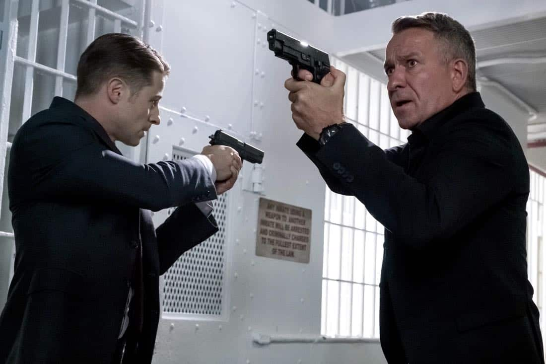 "GOTHAM: L-R: Ben McKenzie and Sean Pertwee in the ""A Dark Knight: The Blade's Path"" episode of GOTHAM airing Thursday, Oct. 19 (8:00-9:01 PM ET/PT) on FOX. CR:  Jeff Neumann"
