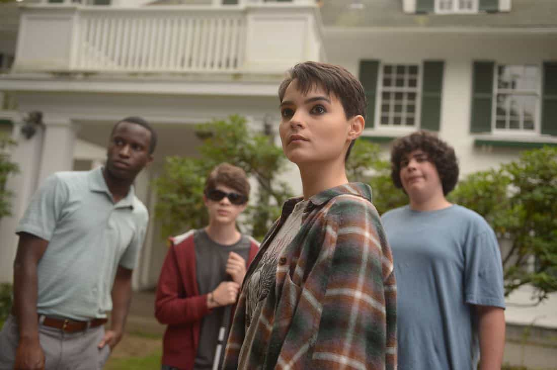 "THE EXORCIST:  L-R:  Guest star Alex Barima, guest star Hunter Dillon, Brianna Hildebrand and guest star Cyrus Arnold in the ""One For Sorrow"" episode of THE EXORCIST airing Friday, Oct. 20 (9:01-10:00 PM ET/PT) on FOX.  ©2017 Fox Broadcasting Co.  Cr:  Sergei Bachlakov/FOX"