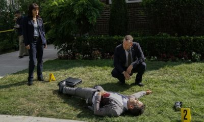 """Out of the Blue"" -- Danny and Baez work the case of a detective who was gunned down prior to testifying against a career criminal. Also, Frank personally investigates when Garrett is attacked by a SWAT team outside his home, and Erin brings in a confidential informant against Anthony's wishes, on BLUE BLOODS, Friday, Oct. 20 (10:00-11:00 PM, ET/PT) on the CBS Television Network. Pictured: Marisa Ramirez, Donnie Wahlberg. Photo: John Paul Filo/CBS ©2017CBS Broadcasting Inc. All Rights Reserved."