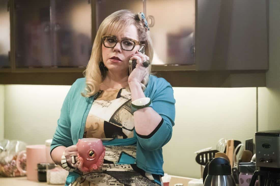 """""""Lucky Strikes"""" -- When Garcia experiences anxiety over a case that's personal to her from her past, Morgan visits to lend emotional support, on CRIMINAL MINDS, Wednesday, Oct. 25 (10:00-11:00 PM, ET/PT) on the CBS Television Network.  Pictured: Kirsten Vangsness (Penelope Garcia)   Photo: Darren Michaels/CBS ©2017 CBS Broadcasting, Inc. All Rights Reserved"""