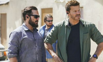 """Collapse"" -- Jason and the SEAL Team must protect the American Embassy in South Sudan when the ambassador refuses to evacuate as the country becomes increasingly unstable. Also, Clay and Stella take their relationship to the next level, on SEAL TEAM, Wednesday, Oct. 25 (9:00-10:00 PM, ET/PT) on the CBS Television Network. Pictured left to right: AJ Buckley as Sonny Quinn and David Boreanaz as Jason Hayes. Photo: Erik Voake/CBS ©2017 CBS Broadcasting, Inc. All Rights Reserved"