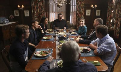 """The Forgotten"" -- Danny and Baez investigate the murder of a single mother whose ex-husband has a history of violence. Also, Frank deals with the fallout when Mayor Dutton (Lorraine Bracco) eliminates solitary confinement in prisons, and Jamie's efforts to save a young woman who overdosed on drugs has unexpected consequences, on BLUE BLOODS, Friday, Oct. 27 (10:00-11:00 PM, ET/PT) on the CBS Television Network.. Pictured: Tom Selleck, Sami Gay;e, Donnie Wahlberg, Andrew Terraciano, Len Cariou, Tony Terraciano, Will Estes, Bridget Moynahan. Photo: Craig Blankenhorn/CBS ©2016 CBS Broadcasting Inc. All Rights Reserved."