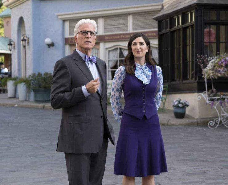 "THE GOOD PLACE -- ""Janet and Michael"" Episode 207 -- Pictured: (l-r) Ted Danson as Michael, D'Arcy Carden as Janet -- (Photo by: Colleen Hayes/NBC)"
