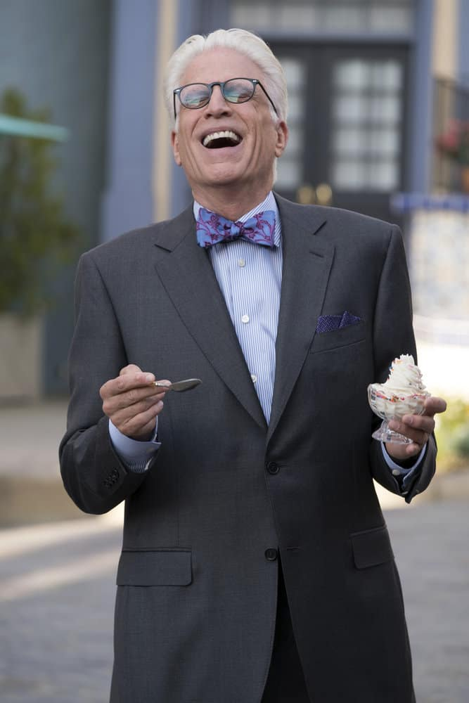 """THE GOOD PLACE -- """"Janet and Michael"""" Episode 207 -- Pictured: Ted Danson as Michael -- (Photo by: Colleen Hayes/NBC)"""
