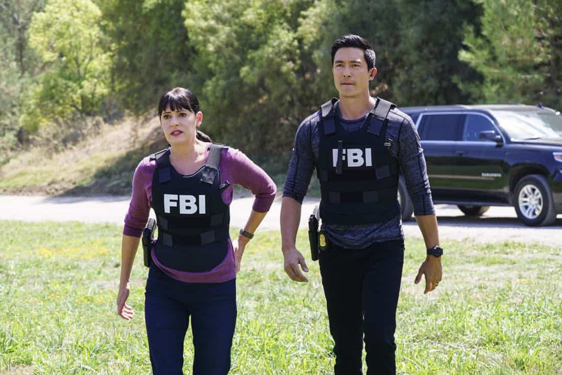 """""""The Bunker"""" -- When several women go missing in Virginia, the BAU must figure out what they have in common in order to find them, on CRIMINAL MINDS, Wednesday, Nov. 1 (10:00-11:00 PM, ET/PT) on the CBS Television Network. Series star Aisha Tyler directed the episode.  Pictured: Paget Brewster (Emily Prentiss), Daniel Henney (Matt Simmons)   Photo: Sonja Flemming/CBS ©2017 CBS Broadcasting, Inc. All Rights Reserved"""