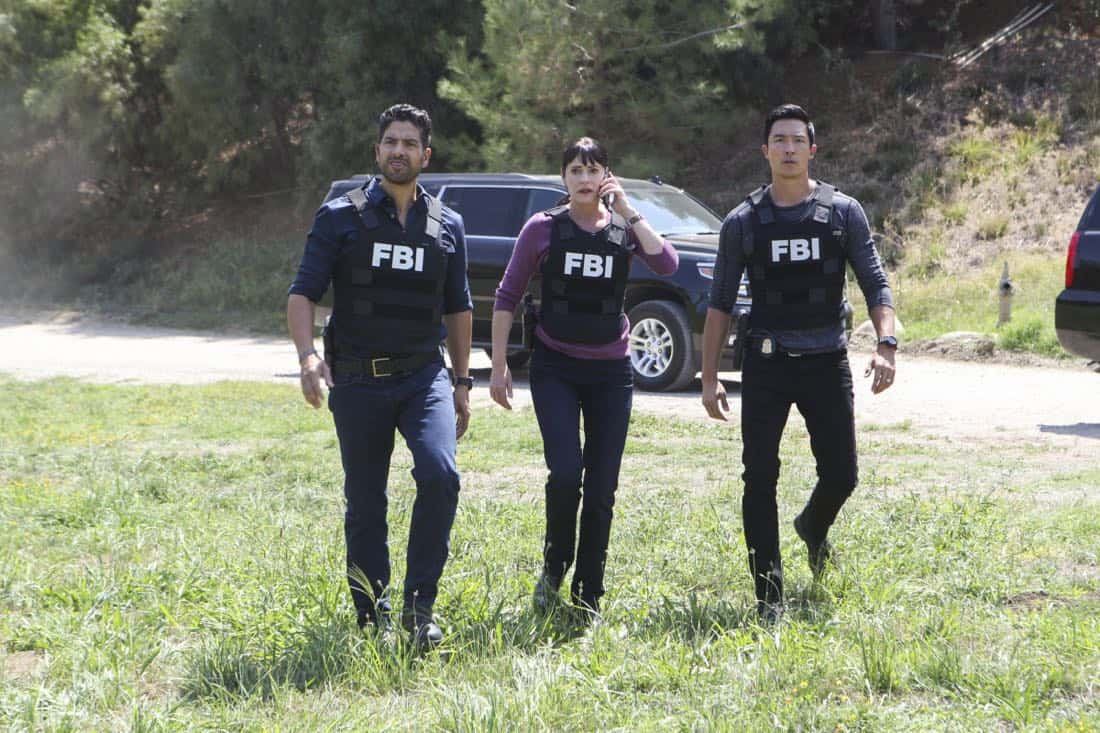"""""""The Bunker"""" -- When several women go missing in Virginia, the BAU must figure out what they have in common in order to find them, on CRIMINAL MINDS, Wednesday, Nov. 1 (10:00-11:00 PM, ET/PT) on the CBS Television Network. Series star Aisha Tyler directed the episode.  Pictured: Adam Rodriguez, (Luke Alvez), Paget Brewster (Emily Prentiss), Daniel Henney (Matt Simmons)   Photo: Sonja Flemming/CBS ©2017 CBS Broadcasting, Inc. All Rights Reserved"""