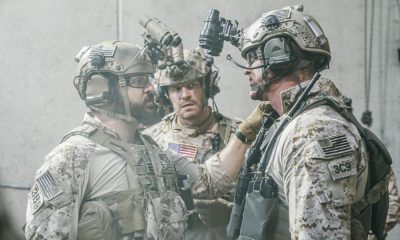 """The Spinning Wheel"" -- The SEAL Team must work with Jason's longtime rival, Beau Fuller (Sharif Atkins), and his team to plan and perfect a raid under the watchful eye of top military brass. Also, Clay delivers solemn news to a teammate's next of kin, on SEAL TEAM, Wednesday, Nov. 1 (9:00-10:00 PM, ET/PT) on the CBS Television Network. Pictured left to right: AJ Buckley as Sonny Quinn and David Boreanaz as Jason Hayes. Photo: Erik Voake/CBS ©2017 CBS Broadcasting, Inc. All Rights Reserved"