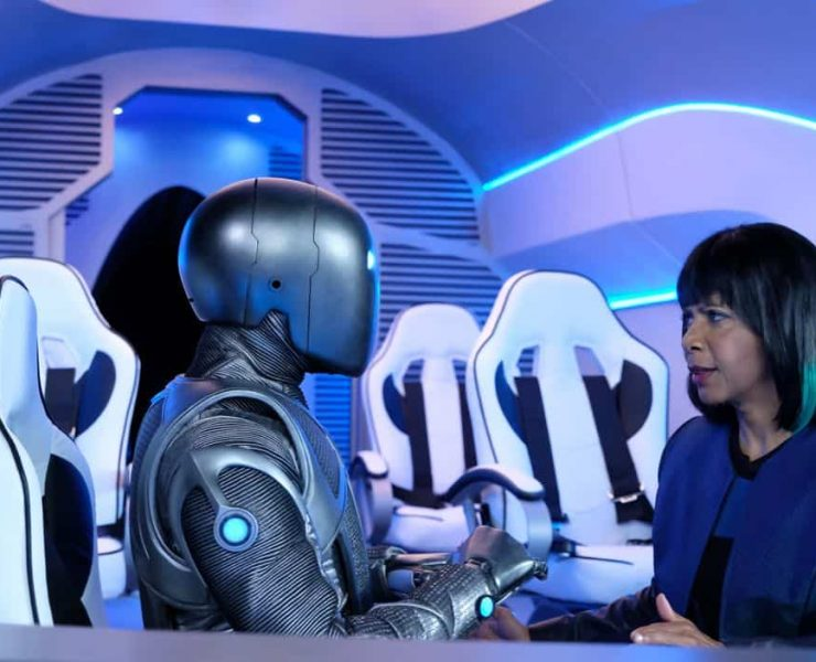 """THE ORVILLE: L-R: Mark Jackson and Penny Johnson Jerald in the """"Into The Fold"""" episode of THE ORVILLE airing Thursday, Nov. 2 (9:01-10:00 PM ET/PT) on FOX. ©2017 Fox Broadcasting Co. Cr: Ray Mickshaw/FOX"""