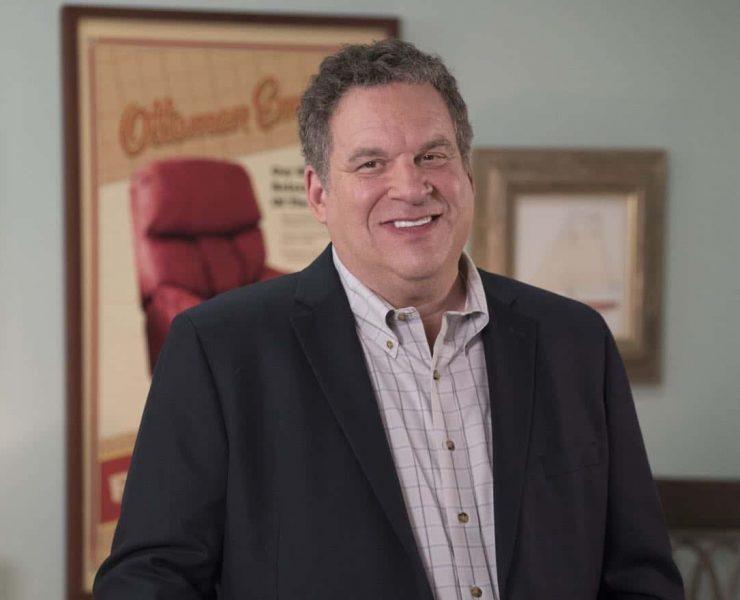 """THE GOLDBERGS - """"Girl Talk"""" – When The Ottoman Empire's business declines due to a new furniture competitor, Adam offers to make Murray a commercial starring Marvin, but things go awry when Marvin's actions mess up the original plan. Meanwhile, Beverly offers to help Barry as he keeps striking out as he attempts to get a girl at school, on """"The Goldbergs,"""" WEDNESDAY, NOV. 1 (8:00–8:30 p.m. EDT), on The ABC Television Network. (ABC/Kelsey McNeal) JEFF GARLIN"""