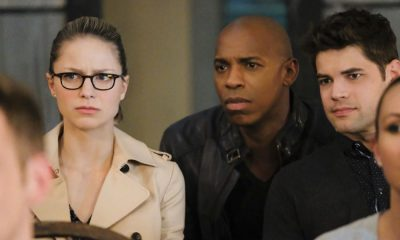 "Supergirl -- ""The Faithful"" -- SPG304b_0440.jpg ñ Pictured (L-R): Melissa Benoist as Kara/Supergirl and Mehcad Brooks as James Olsen/Guardian -- Photo: Bettina Strauss/The CW -- © 2017 The CW Network, LLC. All Rights Reserved"