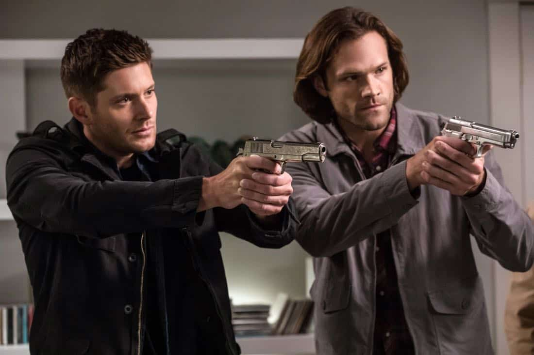 "Supernatural -- ""The Big Empty"" -- Image Number: SN1304b_0287b.jpg -- Pictured (L-R): Jensen Ackles as Dean and Jared Padalecki as Sam -- Photo: Jack Rowand/The CW -- © 2017 The CW Network, LLC All Rights Reserved."