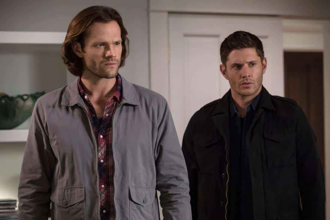 "Supernatural -- ""The Big Empty"" -- Image Number: SN1304b_0444b.jpg -- Pictured (L-R): Jared Padalecki as Sam and Jensen Ackles as Dean -- Photo: Jack Rowand/The CW -- © 2017 The CW Network, LLC All Rights Reserved."