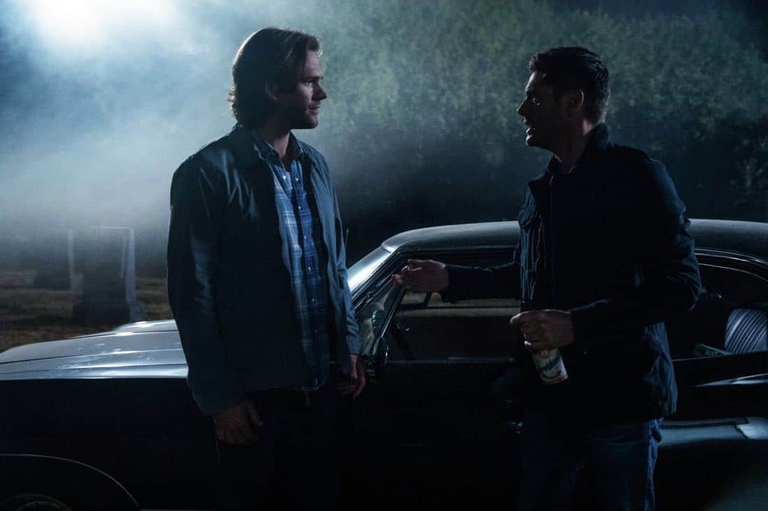 "Supernatural -- ""The Big Empty"" -- Image Number: SN1304a_0141b.jpg -- Pictured (L-R): Jared Padalecki as Sam and Jensen Ackles as Dean -- Photo: Jack Rowand/The CW -- © 2017 The CW Network, LLC All Rights Reserved."