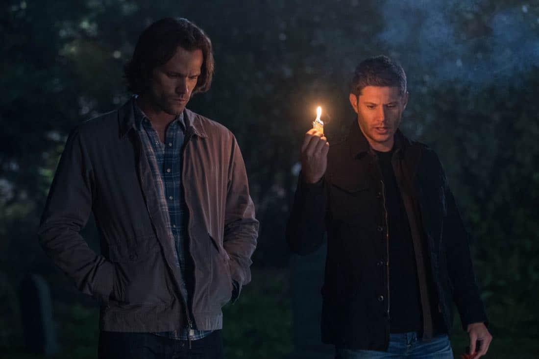 "Supernatural -- ""The Big Empty"" -- Image Number: SN1304a_0280bb.jpg -- Pictured (L-R): Jared Padalecki as Sam and Jensen Ackles as Dean -- Photo: Jack Rowand//The CW -- © 2017 The CW Network, LLC All Rights Reserved."