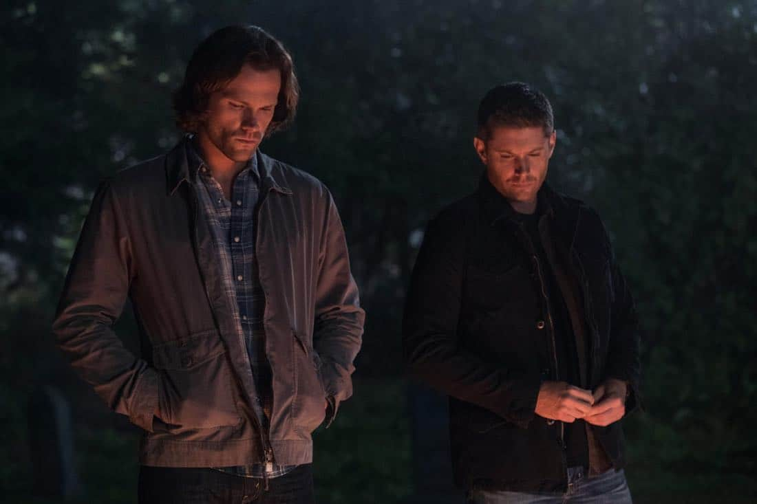 "Supernatural -- ""The Big Empty"" -- Image Number: SN1304a_0283bb.jpg -- Pictured (L-R): Jared Padalecki as Sam and Jensen Ackles as Dean -- Photo: Jack Rowand//The CW -- © 2017 The CW Network, LLC All Rights Reserved."