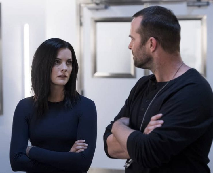 "BLINDSPOT -- ""Enemy Bag of Tricks"" Episode 302 -- Pictured: (l-r) Jaimie Alexander as Jane Doe, Sullivan Stapleton as Kurt Weller -- (Photo by: David Geisbrecht/NBC/Warner Bros)"