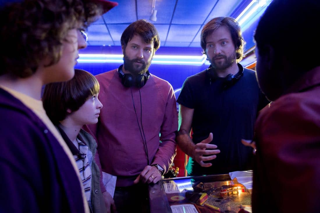 Stranger Things Season 2 Gaten Matarazzo, Noah Schnapp, Ross Duffer, Matt Duffer, Caleb McLaughlin