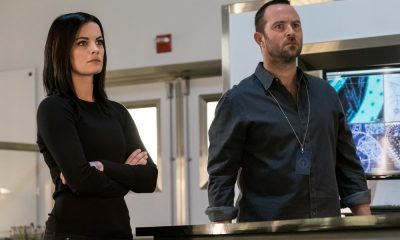 "BLINDSPOT -- ""Upside Down Craft"" Episode 303 -- Pictured: (l-r) Jaimie Alexander as Jane Doe, Sullivan Stapleton as Kurt Weller -- (Photo by: Jeff Neumann/NBC/Warner Bros)"