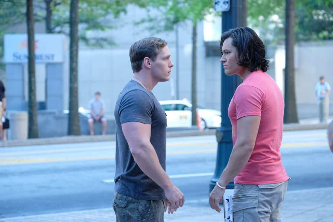 "THE GIFTED:  L-R: Guest star Eric Hunter and Blair Redford in the ""got your siX"" episode of THE GIFTED airing Monday, Nov. 6 (9:00-10:00 PM ET/PT) on FOX.  ©2017 Fox Broadcasting Co.  Cr:  Eliza Morse/FOX"
