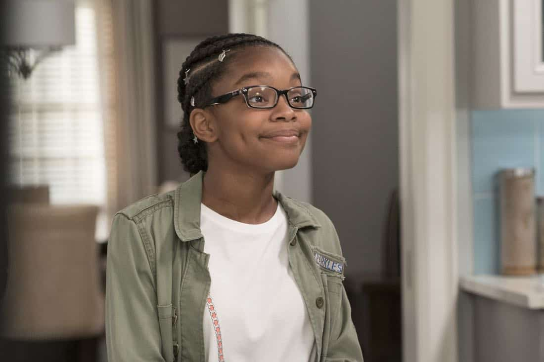 "BLACK-ISH - ""First and Last"" - Diane experiences a big life event toward becoming a woman and Bow, Ruby, Zoey and Alicia are there to support her. Meanwhile, afraid that he may never be able to beat Junior at basketball again, Dre conducts psychological warfare on Junior before challenging him to a game, on ""black-ish,"" TUESDAY, NOV. 7 (9:00-9:30 p.m. EST), on The ABC Television Network. (ABC/Eric McCandless) MARSAI MARTIN"