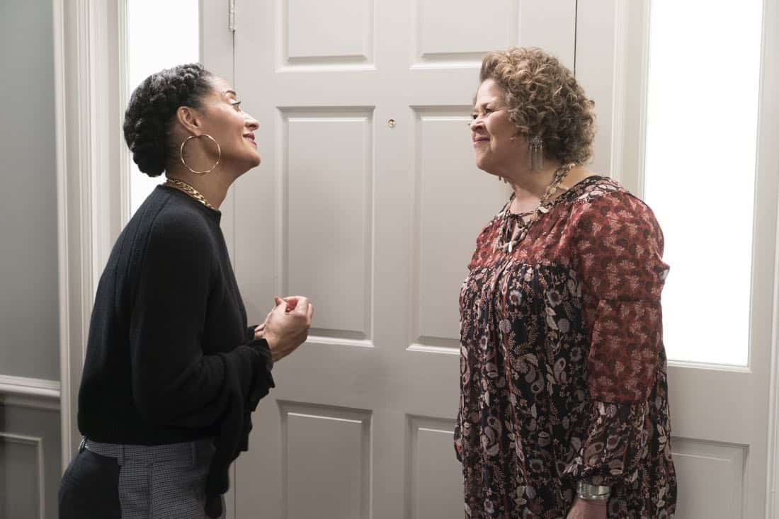 "BLACK-ISH - ""First and Last"" - Diane experiences a big life event toward becoming a woman and Bow, Ruby, Zoey and Alicia are there to support her. Meanwhile, afraid that he may never be able to beat Junior at basketball again, Dre conducts psychological warfare on Junior before challenging him to a game, on ""black-ish,"" TUESDAY, NOV. 7 (9:00-9:30 p.m. EST), on The ABC Television Network. (ABC/Eric McCandless) TRACEE ELLIS ROSS, ANNA DEAVERE SMITH"
