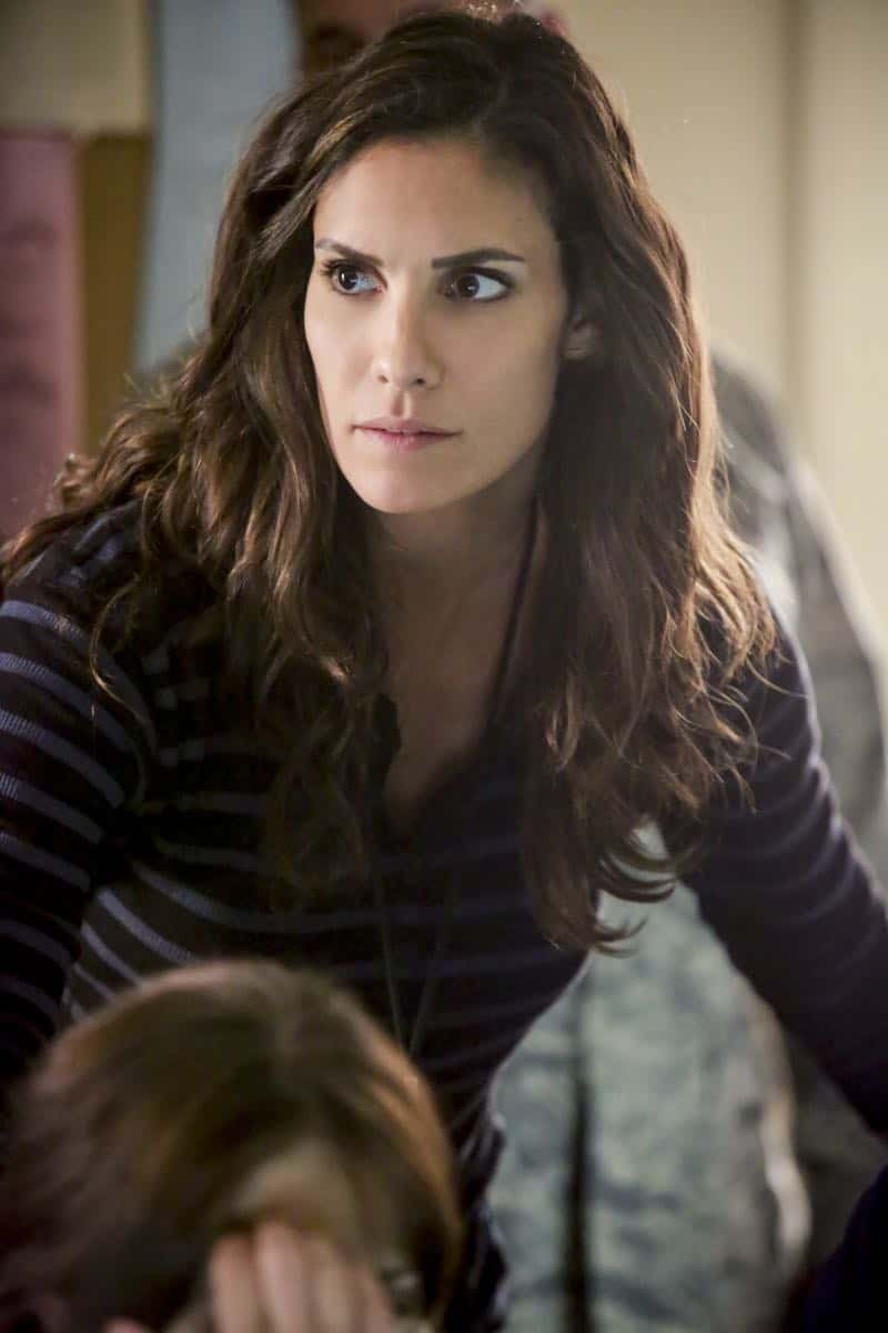 """The Silo"" – Pictured: Daniela Ruah (Special Agent Kensi Blye). After an Air Force captain Kensi dated a decade ago breaches a missile launch facility, she is transported to the location to help thwart the use of nuclear weapons, on NCIS: LOS ANGELES, Sunday, Nov. 12 (9:00-10:00 PM, ET/PT) on the CBS Television Network. Photo: Bill Inoshita/CBS ©2017 CBS Broadcasting, Inc. All Rights Reserved."