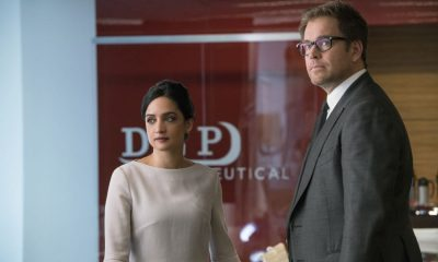"""The Devil, The Detail""-- Bull agrees to help the parents of a former employee sue a drug company when their son commits suicide during a drug trial. However, the task is complicated when the company brings in their own trial scientist, Arti Cander (Emmy Award winner Archie Panjabi), on BULL, Tuesday, Nov 14 (9:00-10:00 PM, ET/PT) on the CBS Television Network. Pictured L-R: Archie Punjabi as Arti Cander and Michael Weatherly as Dr. Jason Bull Photo: David Giesbrecht/CBS ©2017 CBS Broadcasting, Inc. All Rights Reserved"
