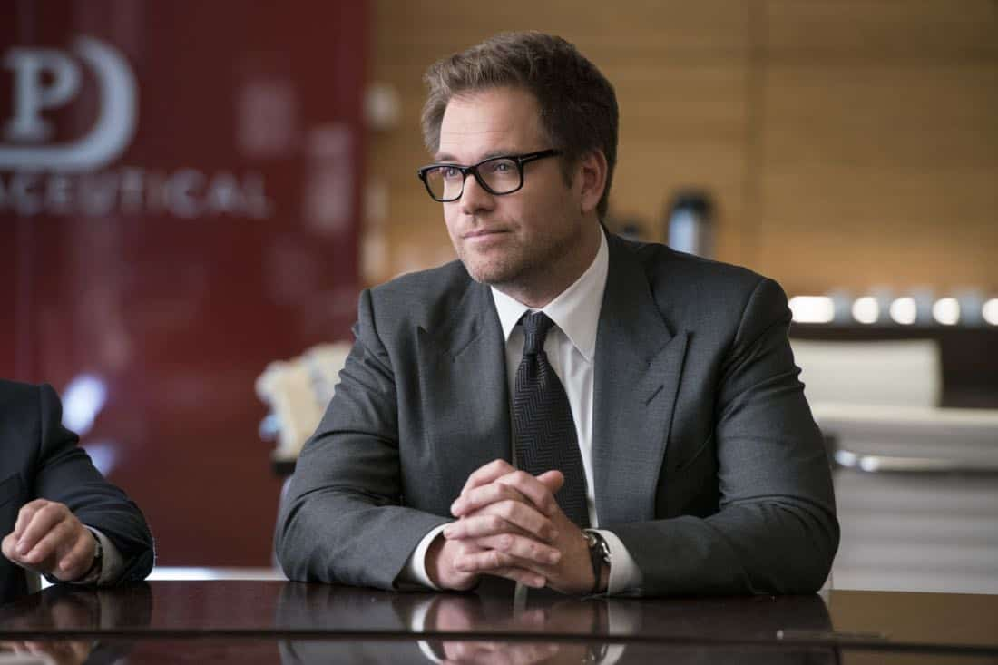 """The Devil, The Detail""-- Bull agrees to help the parents of a former employee sue a drug company when their son commits suicide during a drug trial. However, the task is complicated when the company brings in their own trial scientist, Arti Cander (Emmy Award winner Archie Panjabi), on BULL, Tuesday, Nov 14 (9:00-10:00 PM, ET/PT) on the CBS Television Network. Pictured: Michael Weatherly as Dr. Jason Bull  Photo: David Giesbrecht/CBS ©2017 CBS Broadcasting, Inc. All Rights Reserved"