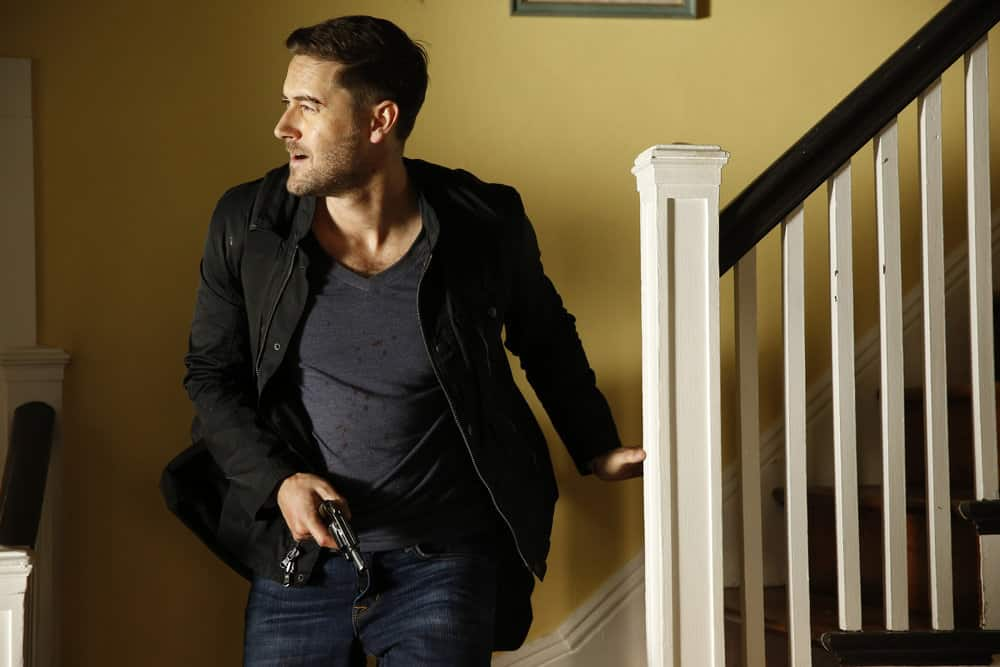 "THE BLACKLIST -- ""Ian Garvey: #13"" Episode 508 -- Pictured: Ryan Eggold as Tom Keen -- (Photo by: Will Hart/NBC)"
