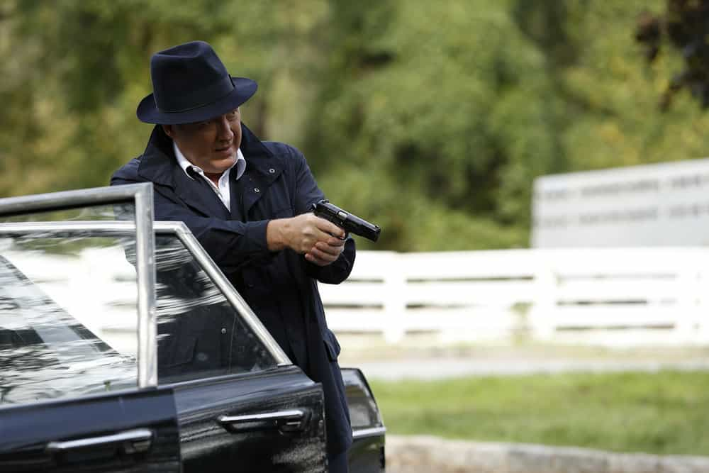 "THE BLACKLIST -- ""Ian Garvey: #13"" Episode 508 -- Pictured: James Spader as Raymond ""Red"" Reddington -- (Photo by: Will Hart/NBC)"
