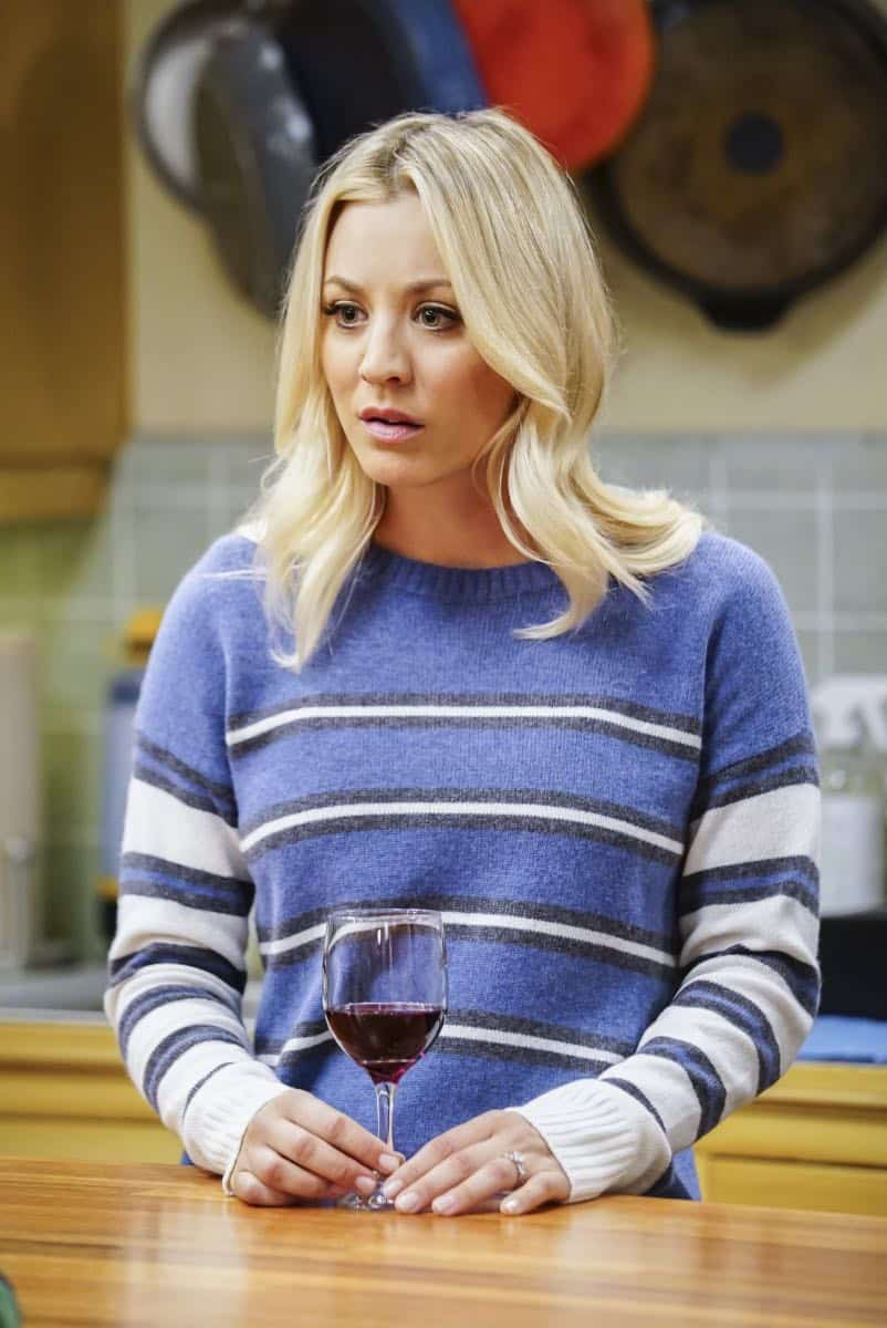 """The Tesla Recoil"" -- Pictured: Penny (Kaley Cuoco). Leonard and Wolowitz are furious after they learn Sheldon went to work with the military behind their backs. Also, while Bernadette is on bed rest, she asks Raj to do some digging when she suspects Ruchi is trying to steal her job, on THE BIG BANG THEORY, Thursday, Nov. 16 (8:00-8:31 PM, ET/PT) on the CBS Television Network. Photo: Sonja Flemming/CBS ©2017 CBS Broadcasting, Inc. All Rights Reserved."