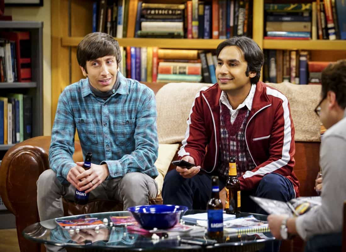 """The Tesla Recoil"" -- Pictured: Howard Wolowitz (Simon Helberg) and Rajesh Koothrappali (Kunal Nayyar). Leonard and Wolowitz are furious after they learn Sheldon went to work with the military behind their backs. Also, while Bernadette is on bed rest, she asks Raj to do some digging when she suspects Ruchi is trying to steal her job, on THE BIG BANG THEORY, Thursday, Nov. 16 (8:00-8:31 PM, ET/PT) on the CBS Television Network. Photo: Sonja Flemming/CBS ©2017 CBS Broadcasting, Inc. All Rights Reserved."