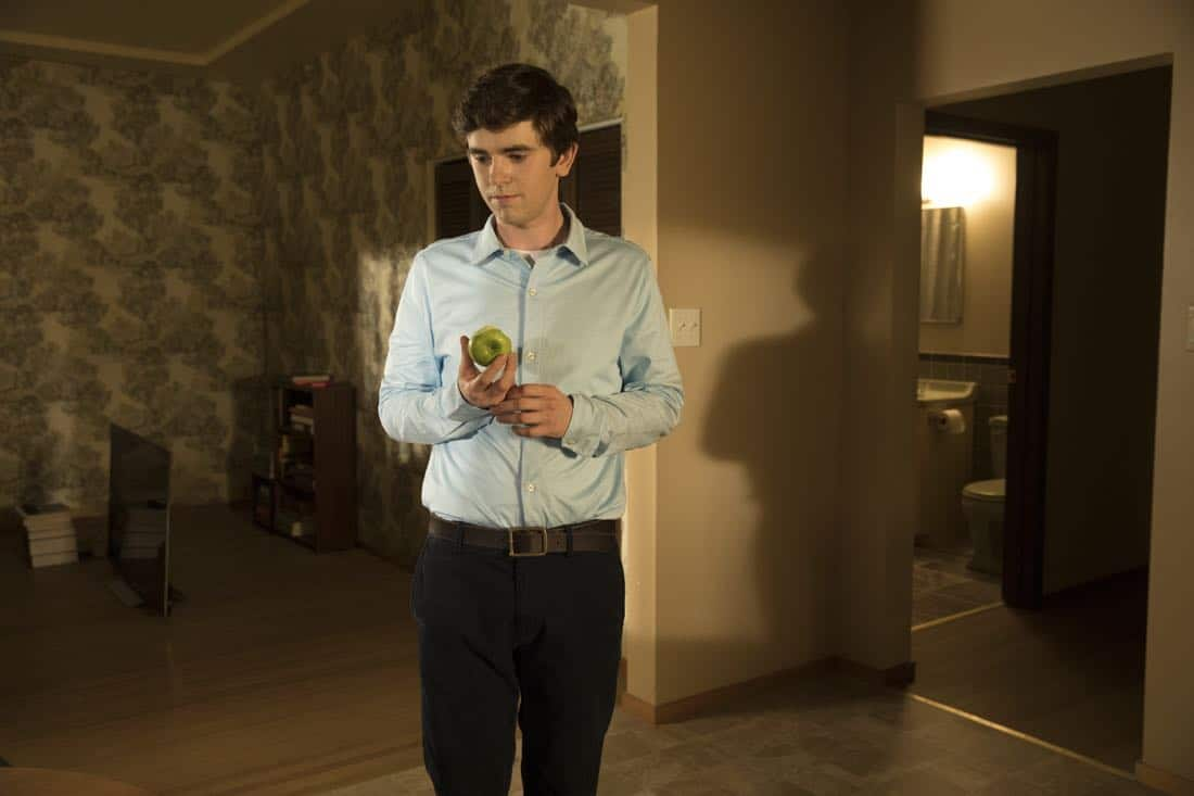 "THE GOOD DOCTOR - ""Apple"" - During a robbery at the grocery mart Dr. Shaun Murphy is shopping at, his communication limitations puts lives at risk. Meanwhile, after Shaun's traumatic day, Dr. Aaron Glassman worries that he isn't doing enough to help Shaun, on ""The Good Doctor,"" MONDAY, NOV. 20 (10:01-11:00 p.m. EST), on The ABC Television Network. (ABC/Jack Rowand) FREDDIE HIGHMORE"