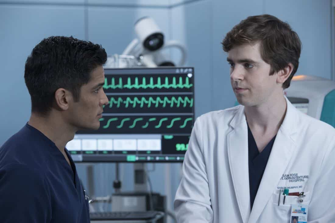 "THE GOOD DOCTOR - ""Apple"" - During a robbery at the grocery mart Dr. Shaun Murphy is shopping at, his communication limitations puts lives at risk. Meanwhile, after Shaun's traumatic day, Dr. Aaron Glassman worries that he isn't doing enough to help Shaun, on ""The Good Doctor,"" MONDAY, NOV. 20 (10:01-11:00 p.m. EST), on The ABC Television Network. (ABC/Jack Rowand) NICHOLAS GONZALES, FREDDIE HIGHMORE"